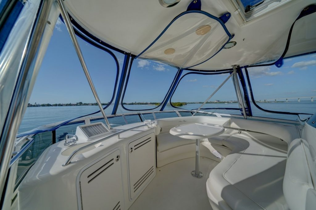50-ft.-Sea-Ray-–-Luxury-Power-Yacht-Front-Seat-over-the-bridge