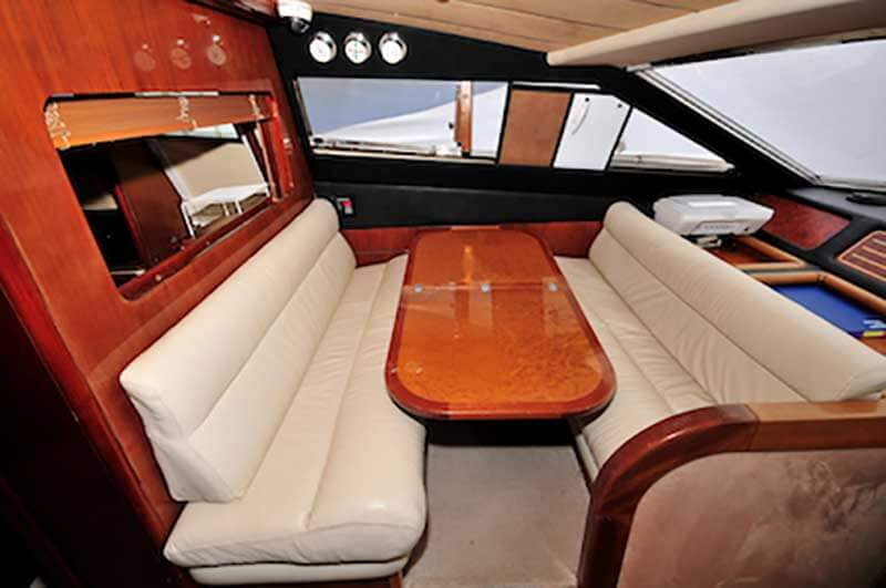 80-FT-Ferretti-Power-Yacht-Up-to-30-People-Complimentary-Dinnette-Seats-along-the-Pilot-House